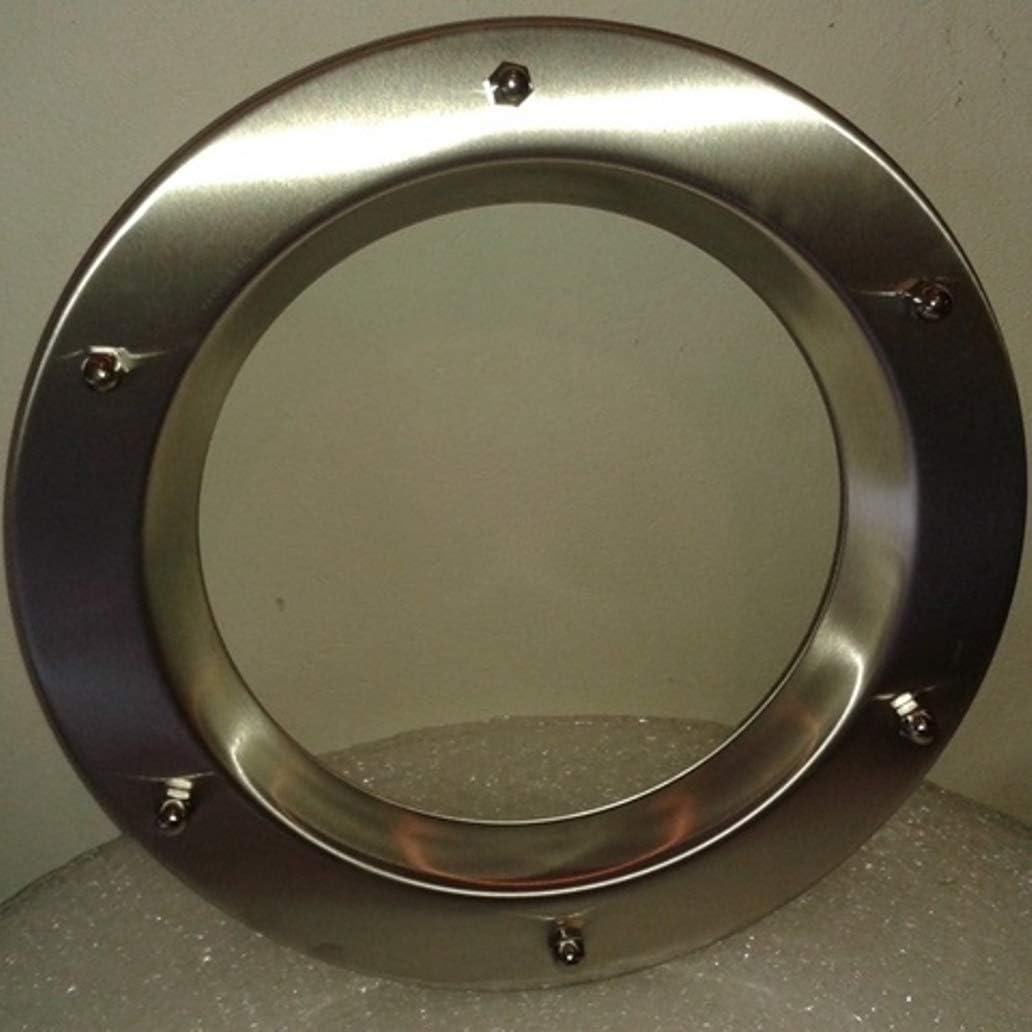 Ojo de buey para puerta de acero inoxidable INOX tuercas ciegas 350 mm de di/ámetro vidrio transparente