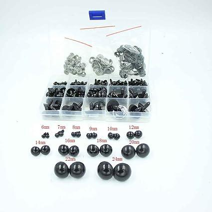 Black Safety eyes 24 mm for stuffed animal toys amigurumi crafts teddy bear