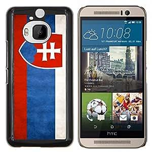 EJOOY---Cubierta de la caja de protección para la piel dura ** HTC One M9Plus M9+ M9 Plus ** --Nacional bandera de la nación País Eslovaquia