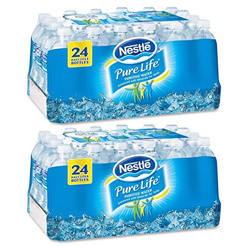 Nestle Pure Life Purified Water, 16 9 oz  Bottles, 2 Cases