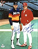 "Nolan Ryan""5714 K's"" & Pete Rose""Hit King 4256"" Signed 11X14 Photo - PSA/DNA Certified - Autographed MLB Photos"