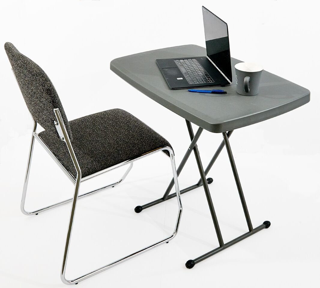 Iceberg 65491 Indestructible Too 1200 Series Resin Personal Folding Table 30 x 20 Charcoal by Iceberg (Image #5)