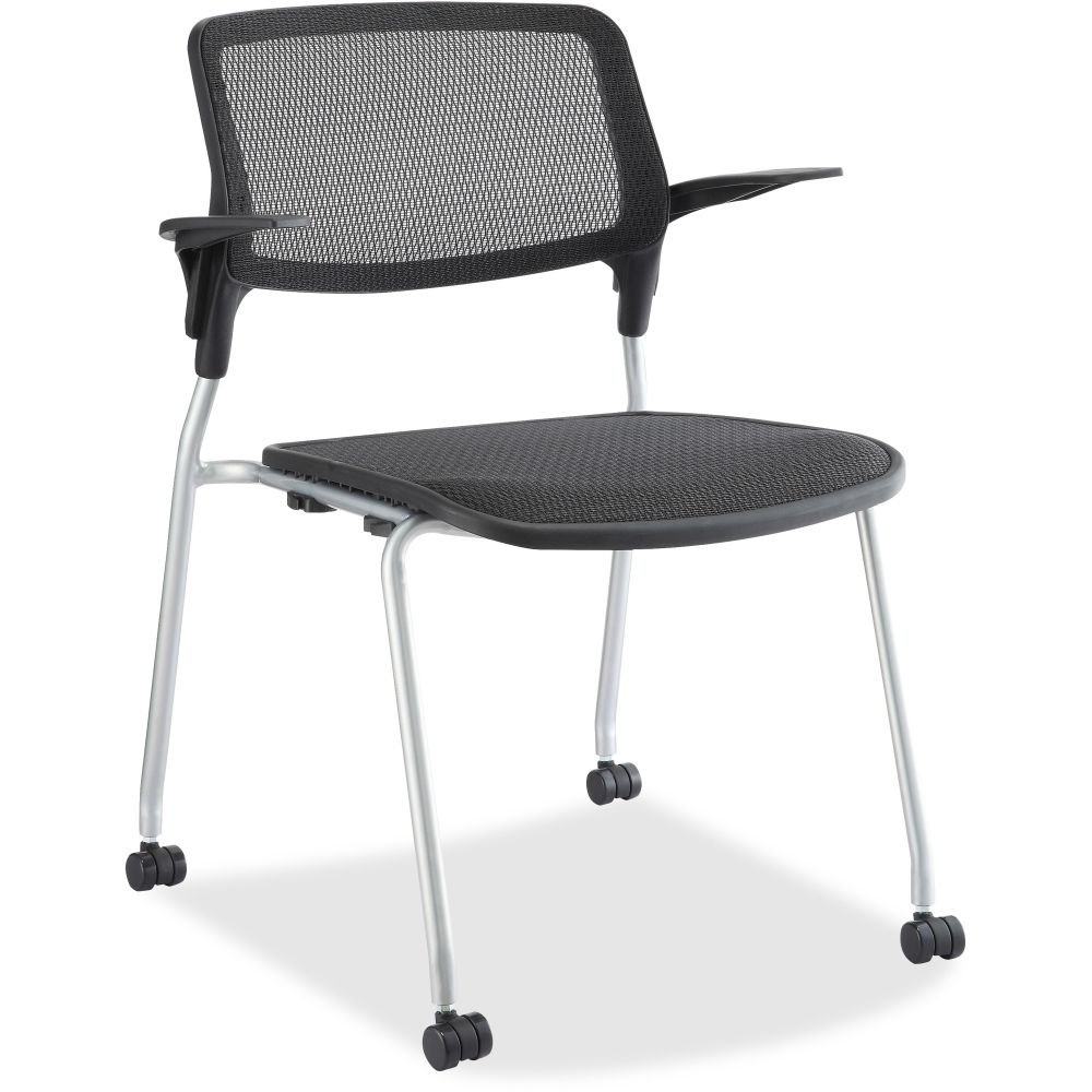 Lorell Fixed Arms Stackable Guest Chairs - LLR84574 ##buydmi