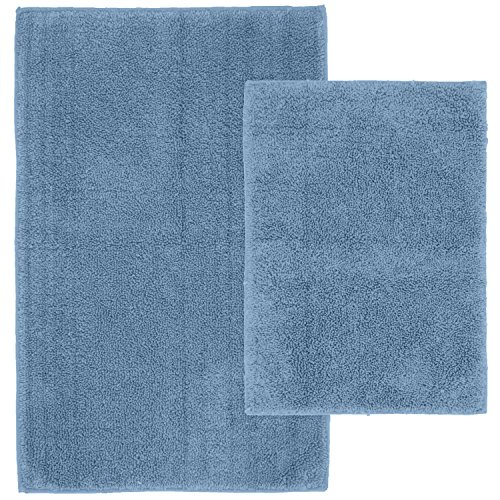 Washable Rugs On Amazon: Garland Rug 2-Piece Queen Cotton Washable Rug Set, Sky