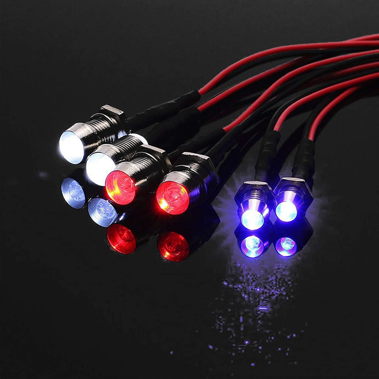 8 LED Headlamp Tail-light Set RC Car Parts for TRAXXAS HSP HPI REDCAT Axial $S1