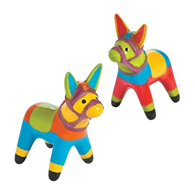 Fun Express - Vinyl Fiesta Donkey for Cinco de Mayo - Toys - Character Toys - Vinyl Characters - Cinco de Mayo - 12 Pieces: Toys & Games