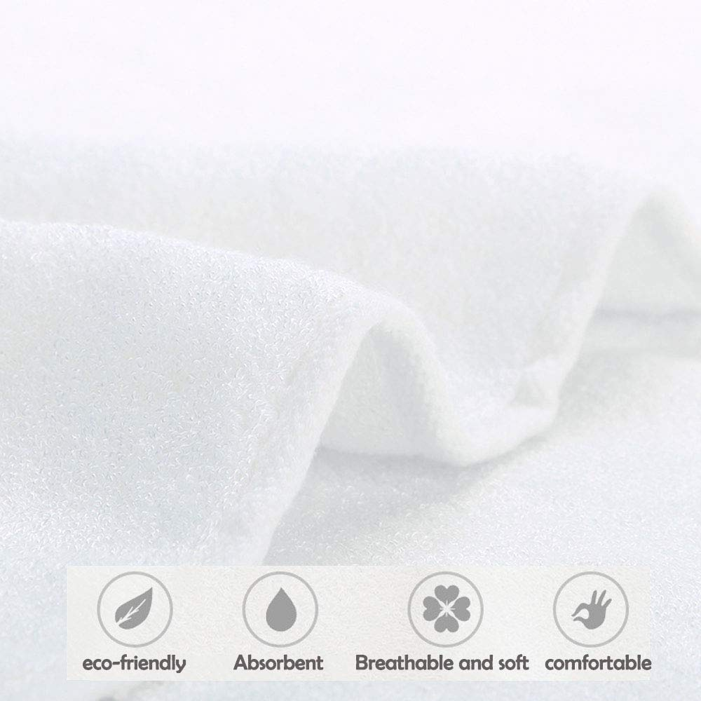 Baby Washcloths Wash Towels Infant Bamboo Towels Organic Set 6 Pack 10x10 Inches
