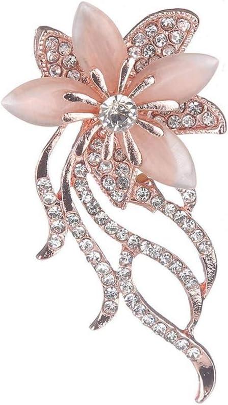Bobury Regalos de Boda joyería de la Broche de la Flor de Las Mujeres de la Bufanda Hebilla de aleación de Las Muchachas del Rhinestone Breastpin Ropa Pin
