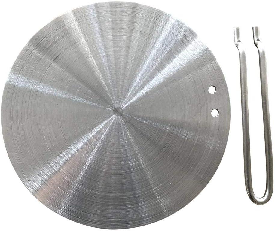 G-wukeer Diffusore di Calore Piastra del diffusore a induzione in Acciaio Inossidabile per fornello Elettrico Piastra riscaldante