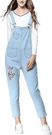 Denim Overalls Girl Embroidery Hoop