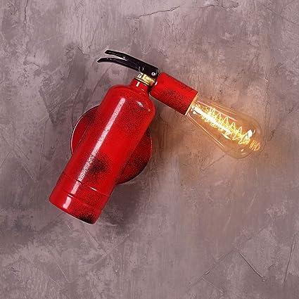 AXWT Restaurante Lámpara de Pared Nordic Creativo Extintor de Incendios Simple Led Arte Sala de Estar