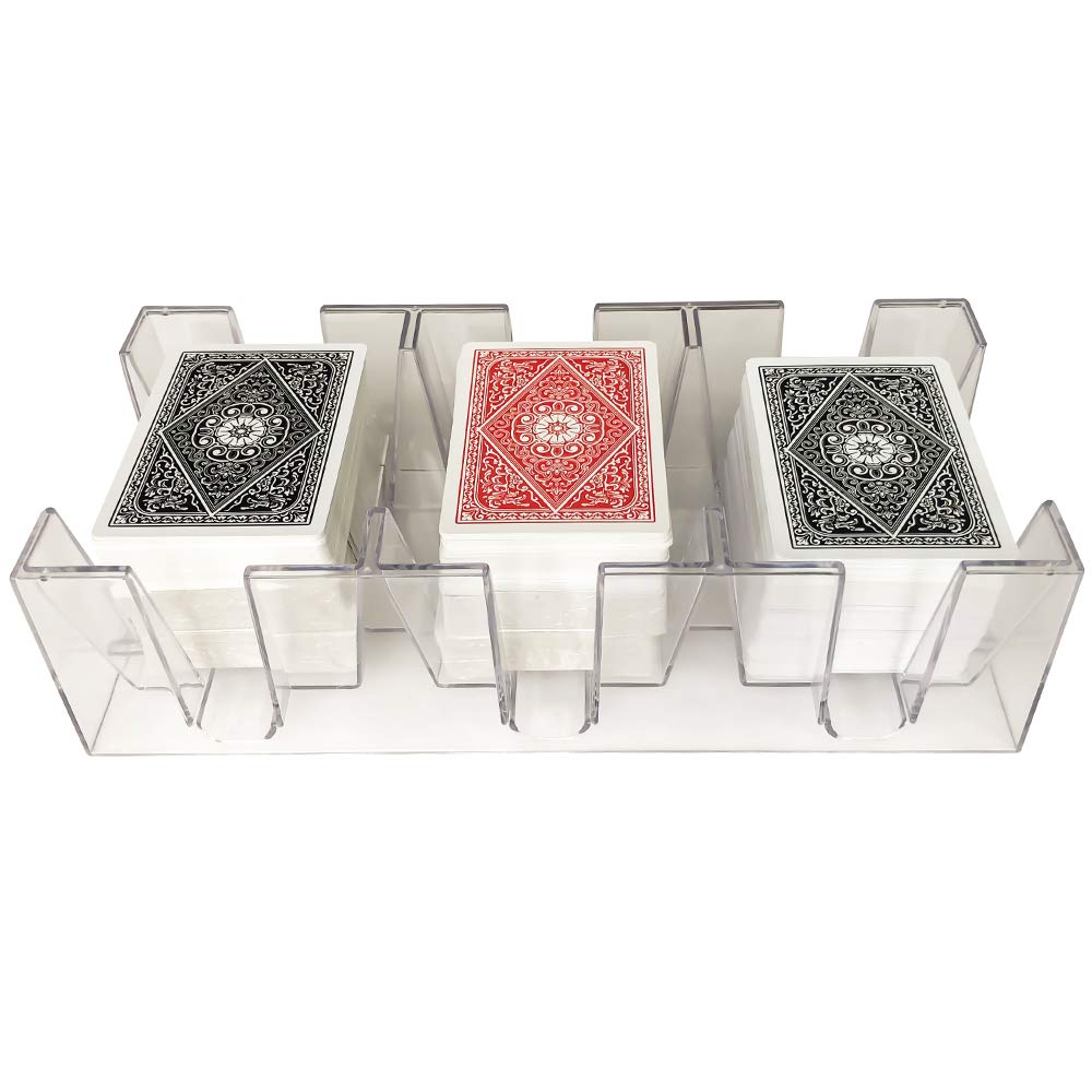 Yuanhe 9 Deck Clear Canasta Playing Card Tray