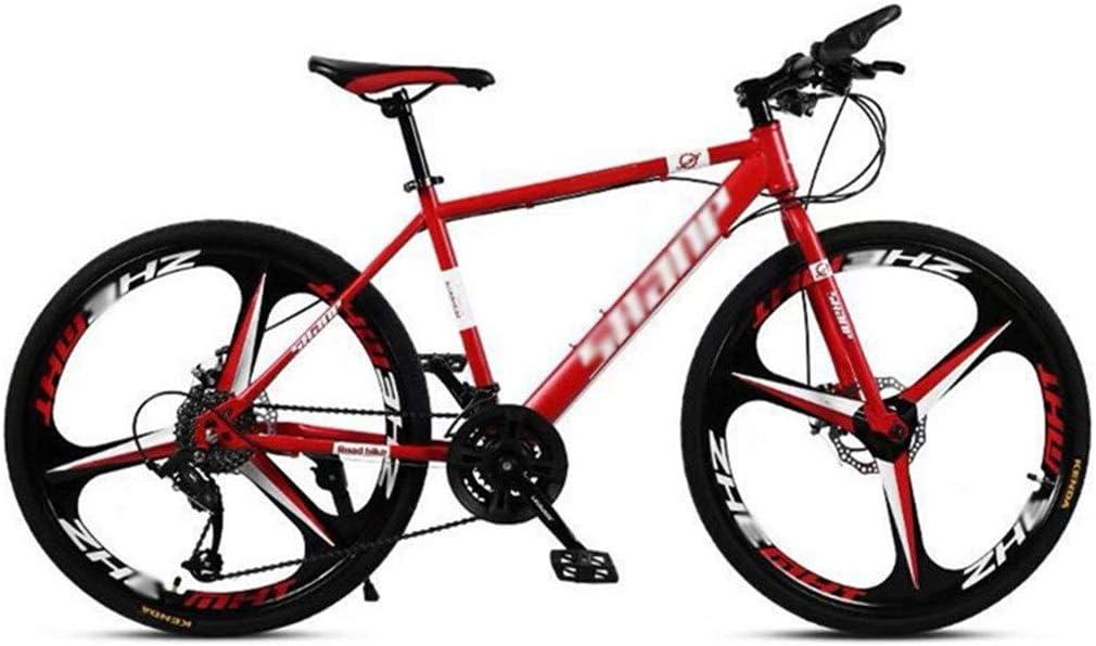 Bicicleta para Joven Bicicletas De Carretera Camino for Bicicleta de montaña de los Hombres de MTB 21 Velocidad 24/26 Pulgadas Ruedas for Mujeres Adultas (Color : Red, Size : 24in): Amazon.es: Hogar