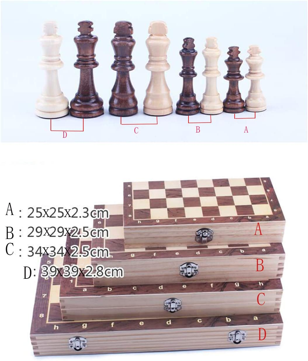 Juegos de mesa de juguetes-juego de ajedrez con tablero de ajedrez plegable de madera y piezas estándar hechas a mano clásicas-juegos de ajedrez de la vida magnética de Champ para adultos y