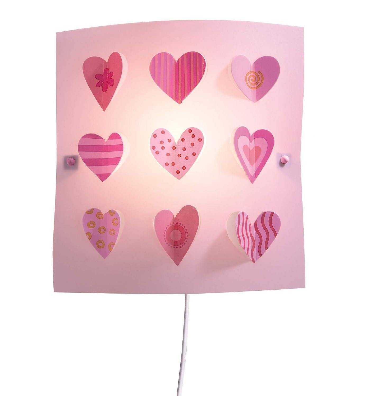 Haba 7559 Corazones - Lámpara de noche de pared, 27 x 27 cm [Clase de eficiencia energética E]