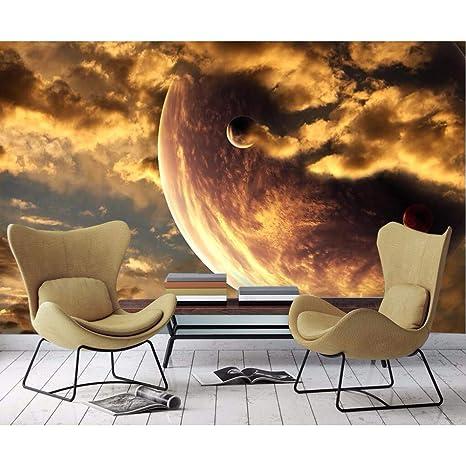 Gmyanbz Custom Wallpaper Golden Yellow Aesthetic Atmosphere Starry