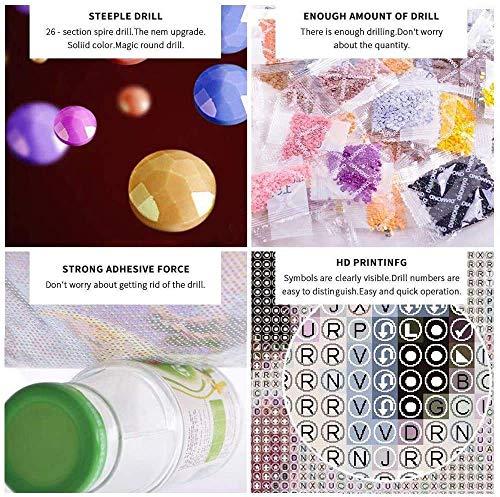 Diamond Art Kits for Adults Diamond Painting Stitch Cartoons Diamond Painting Home Wall Decoration Supplies(12x16inch)