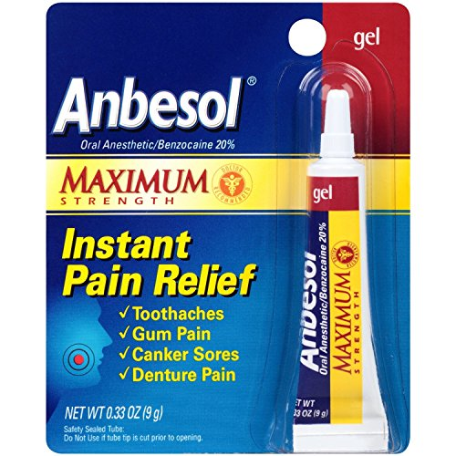 (Anbesol Maximum Strength Oral Anesthetic Gel, 3 Count)