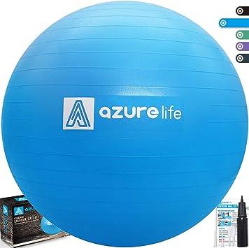 Amazon.com: Pelota de ejercicio de grado profesional de 58 a ...