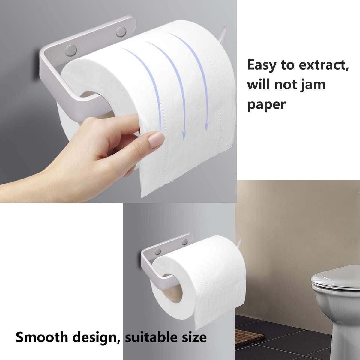 WC Klorollenhalter HONZUEN Toilettenpapierhalter Ohne Bohren Schwarz Badezimmer Nagelfreier Klebstoff und 3M Selbstklebend Klopapierhalter f/ür Waschr/äume K/üchen