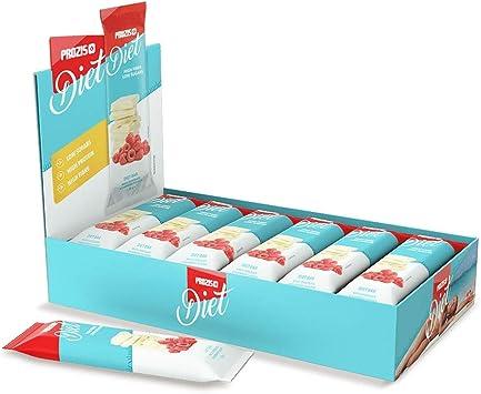 Prozis Diet Bar 12x35g - Delicioso Aperitivo Chocolate Blanco con Frambuesa - Rico en Proteína y Bajo en Hidratos de Carbono y Azúcares - Ideal para ...