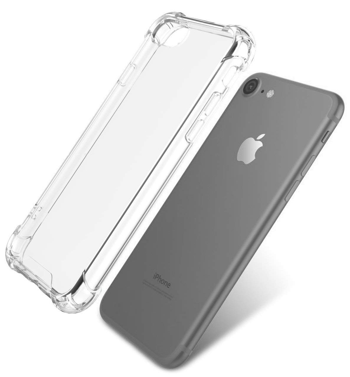 Clear, iPhone 7, iPhone 8 Case, Premium Scratch Resistant, Slim, Shock Proof, Air Cushion, Soft TPU Cover Case, Screen Protector Friendly, Quantum Case by AndsonGear