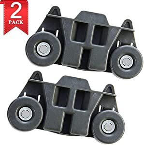 W10195416 New Upgraded Metal Axles Dishwasher Wheel Lower Rack Replacement Parts for Kitchen Aid Whirlpool Kenmore Kitchenaid W10195416V,AP5983730, PS11722152, W10195416VP(2 Packs)
