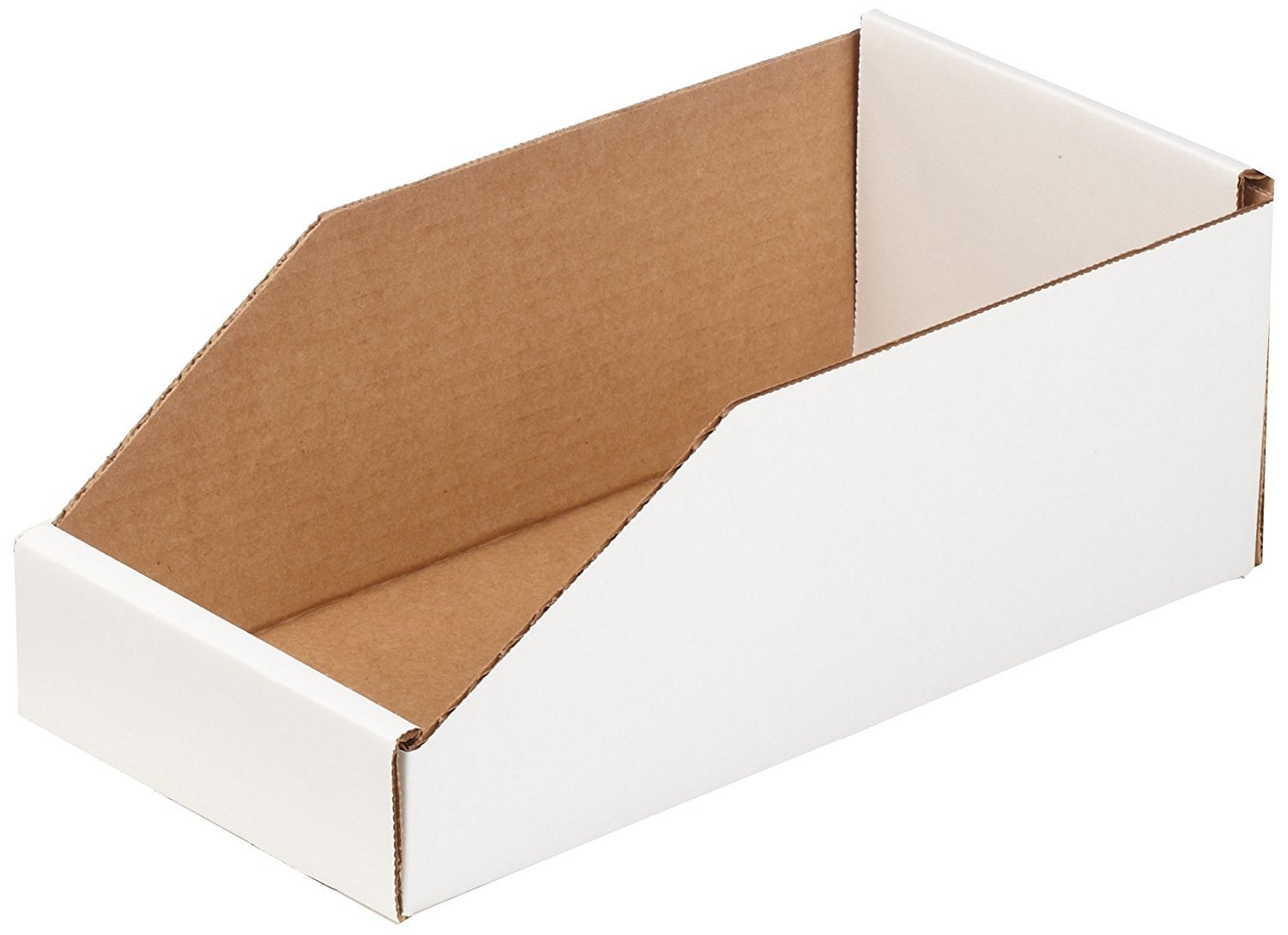 Aviditi BINMT612 Corrugated Open Top Bin Box, 12'' Length x 6'' Width x 4-1/2'' Height, Oyster White (Case of 50) (2 CASES OF 50)