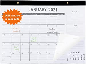 "VANANSA 17x12"" Large Wall Calendar 2021-2022 Calendar 18 Monthly Desk Pad Calendar with Transparent Cover Planning Organizing Home Office Academic Calendar 2021"