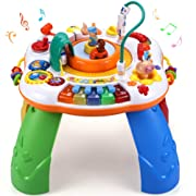 Sytle-Carry Learning Activity Table Toddler Toys - Musical Activity Center Game Baby Toys 6 to 12 Months Sit to Stand Play Table Toys for 1 2 3 Years Old Boys Girls Birthday Gifts