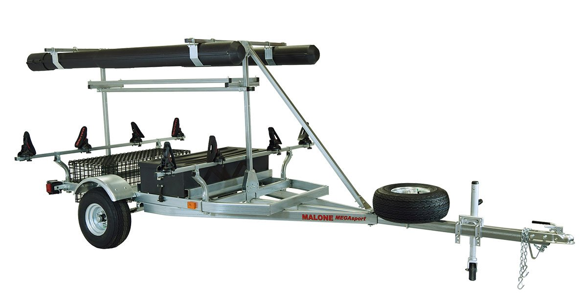 Malone Auto Racks 2 boat ultimate angler trailer package - Saddle Up Pro