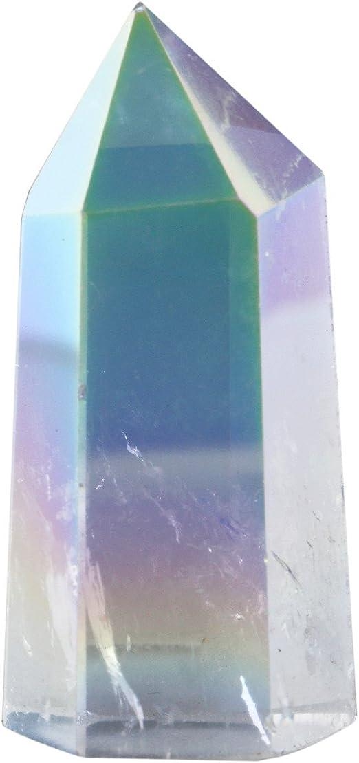 top! Titanium Crystal Heart Flame Angel Aura Quartz Reiki Healing 3pcs 50g+