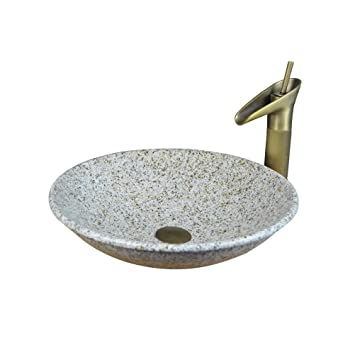 Bathtub LUYIASI- Aufsatzbecken Waschbecken Runde Marmor Art ...
