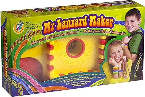 Choose Friendship, My Lanyard Maker, Jewelry Making Kit and Lanyard Lacing Bracelet Kit for Kids, Red/Yellow