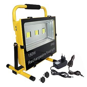 Froadp 150W Blanco Cálido LED Proyector de construcción Batería ...