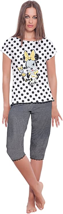 Disney - Pijama Pirata Para Mujer Minnie Mouse, Color Marengo ...
