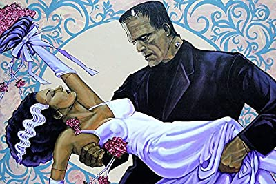 The Wedding by Mike Bell Bride of Frankenstein Gift Monster Pop Art Print