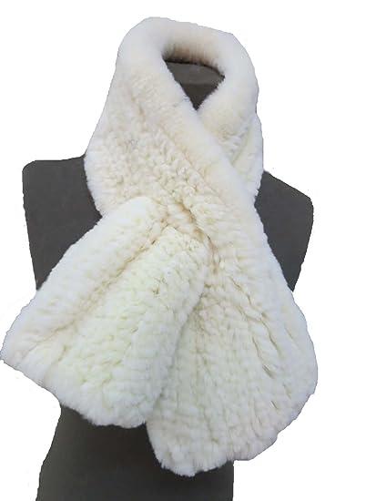 Femme Couleur Pure Forrure Veritable de Lapin Rex Echarpe Volant (Beige)   Amazon.fr  Vêtements et accessoires 838bc344259