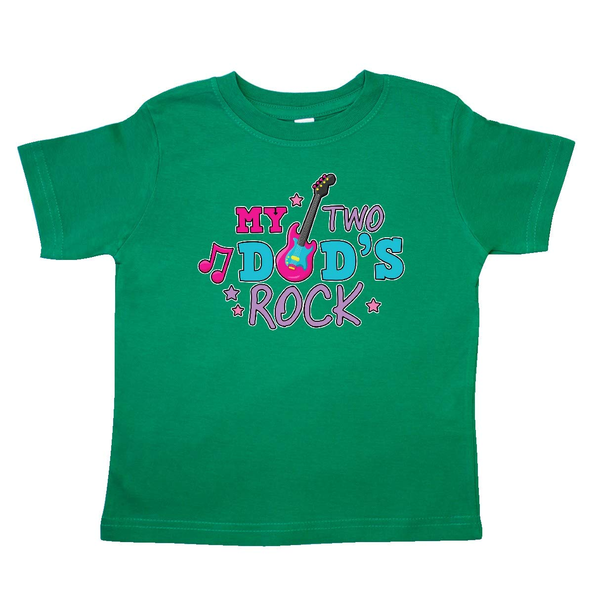 inktastic My 2 Dads Rock with Guitar Toddler T-Shirt
