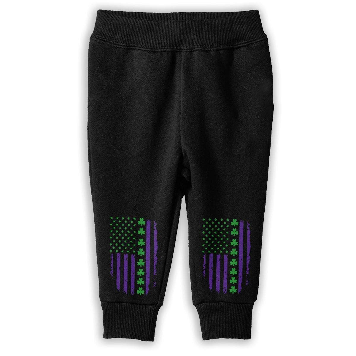 Patricks Day Irish American Flag Childrens Boys /& Girls Unisex Running Sweatpants Printed St