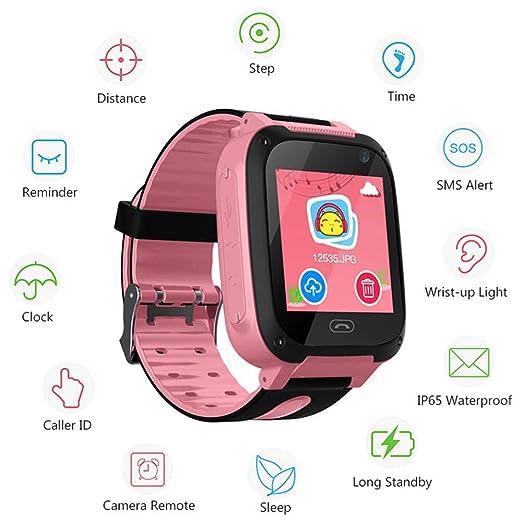 FOONEE Reloj GPS Tracker para niños, Reloj Inteligente Teléfono ...