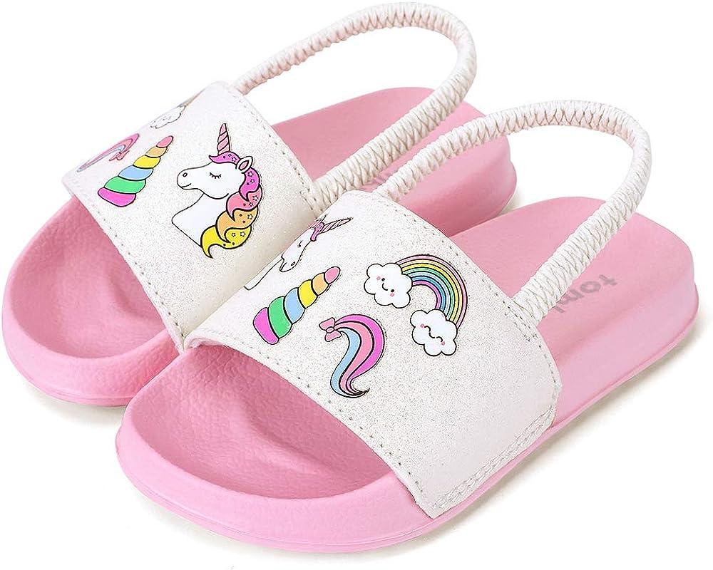 tombik Toddler Boys /& Girls Beach//Pool Slides Sandals Kids Water Shoes