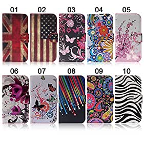 ModernGut New Flower USA UK Flag Designer Wallet Flip Stand Book Cover Case For LG Optimus L7 II Dual P7 1pcs/lot ,free shpping