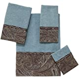 Avanti Linens Bradford 4 Piece Towel Set Mineral Includes Bath Hand Wash Fingertip Towels