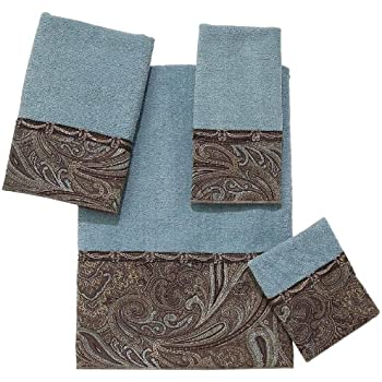 Avanti Linens Bradford Embellished 4-Piece Decorative Towel Set Mineral