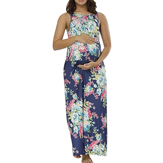 93a0227a33216 Image Unavailable. Image not available for. Color: Sagton Pregnancy Dress  For Women ...