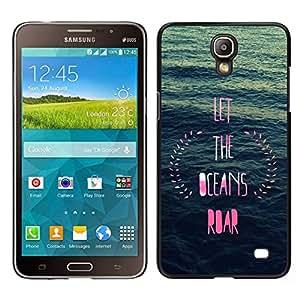 // PHONE CASE GIFT // Duro Estuche protector PC Cáscara Plástico Carcasa Funda Hard Protective Case for Samsung Galaxy Mega 2 / ocean inspirational pink blue wreath /