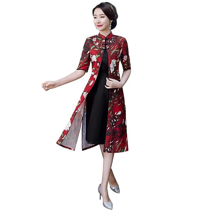 Amazon.com: Shanghai Story 2019 Vietnam Aodai vestido chino ...