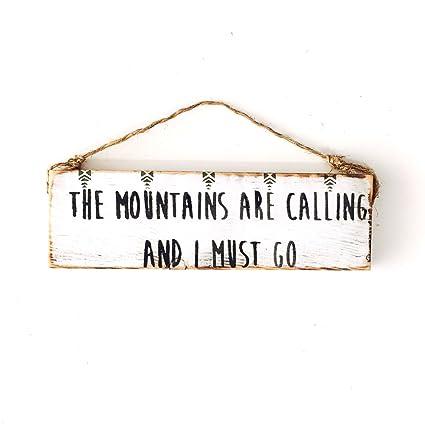 Amazon.com: Ruskin352 Adventure Mountains Hiking sign John ...