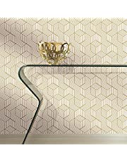 RoomMates RMK10707WP Stripped Hexagon Peel and Stick Wallpaper